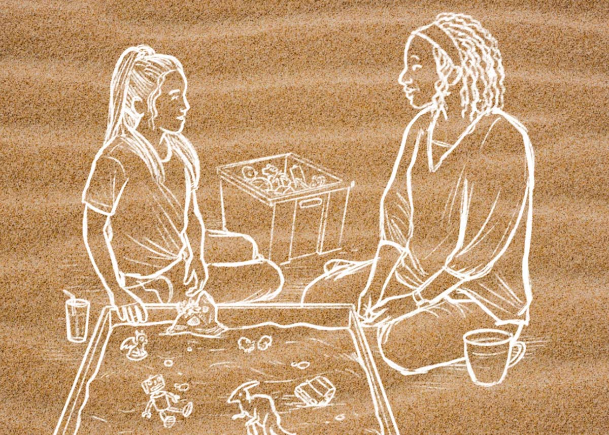 Sand Tray Therapy Illustration